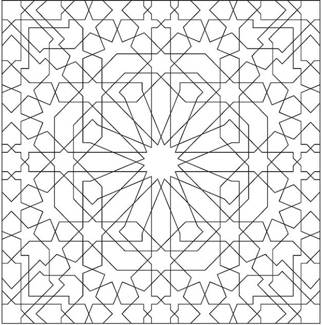 Alhambra coloring pages ~ with permission from Dover Books via the Dover Sampler