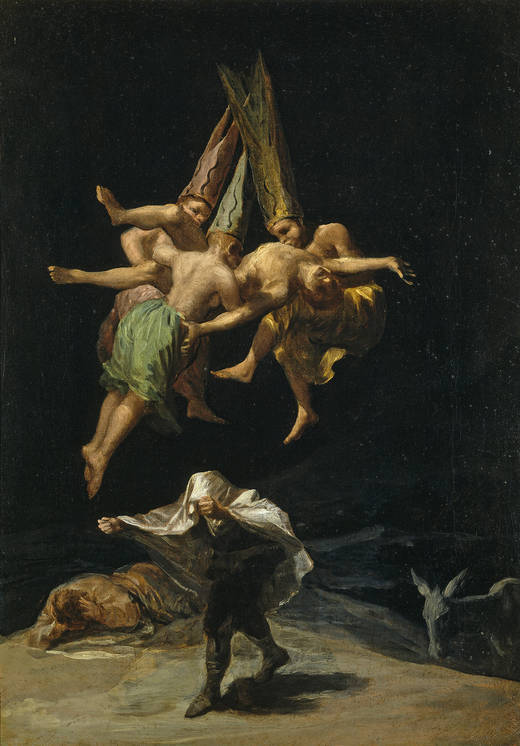 http://en.wikipedia.org/wiki/File:Witches_Flight_Goya.jpg