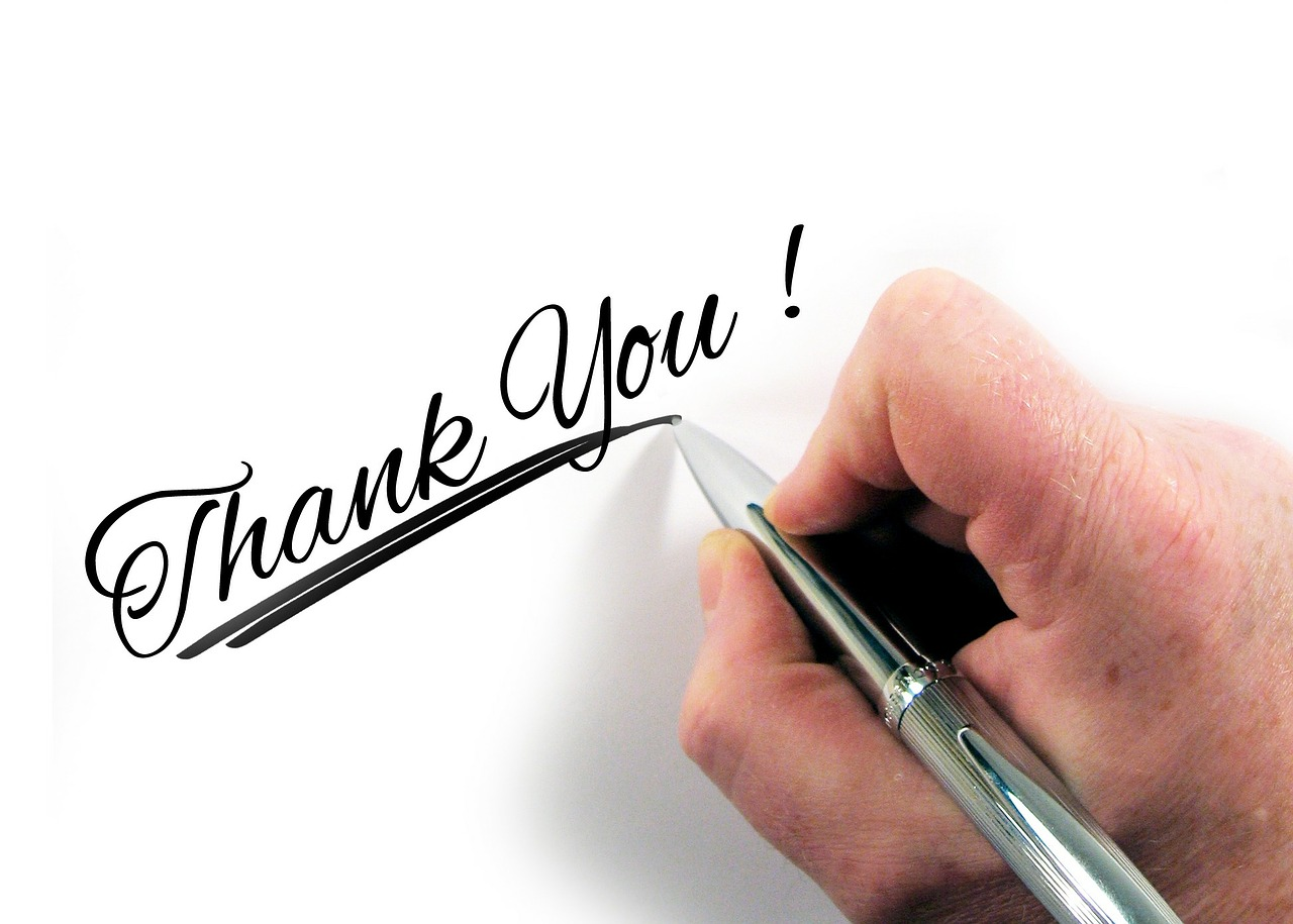 http://pixabay.com/en/hand-leave-pen-paper-thank-you-226358/