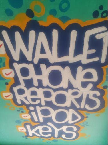 Photo is mine. Street art in the Makati elevated walkway.